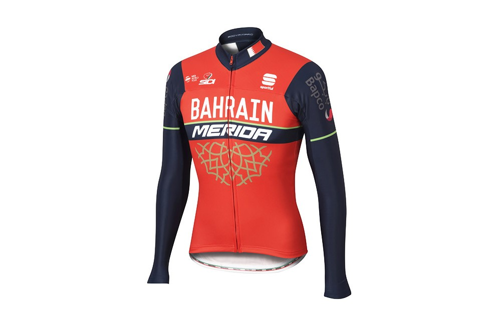 BAHRAIN MERIDA maillot manches longues Thermal 2017