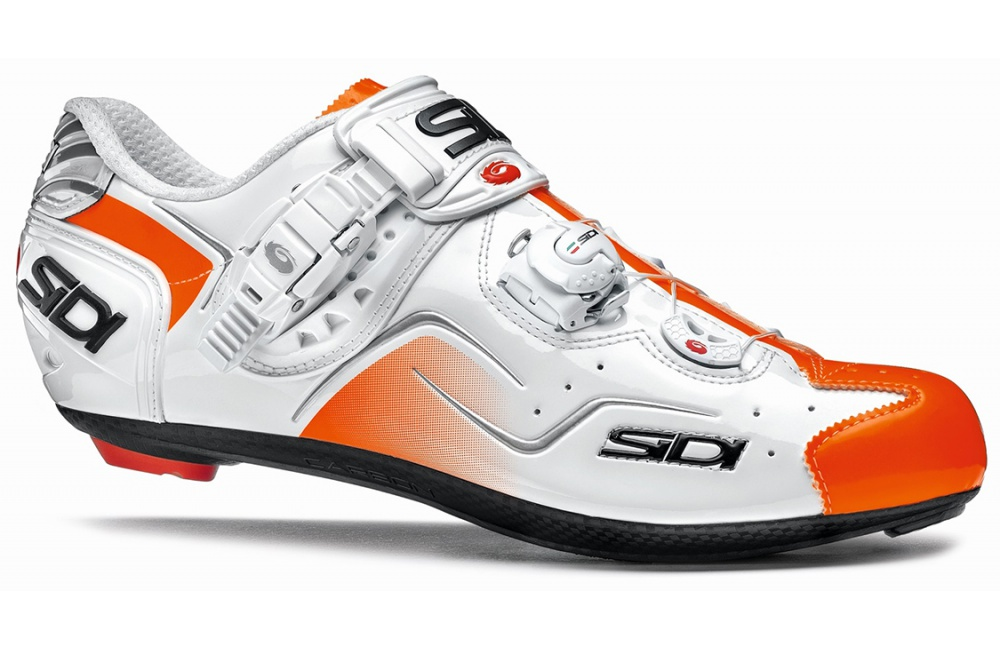 SIDI chaussures route Kaos blanc orange verni 2016