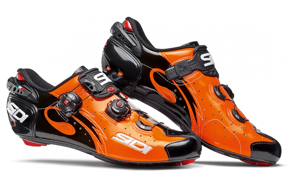 SIDI chaussures route Wire Carbon orange noir 2017