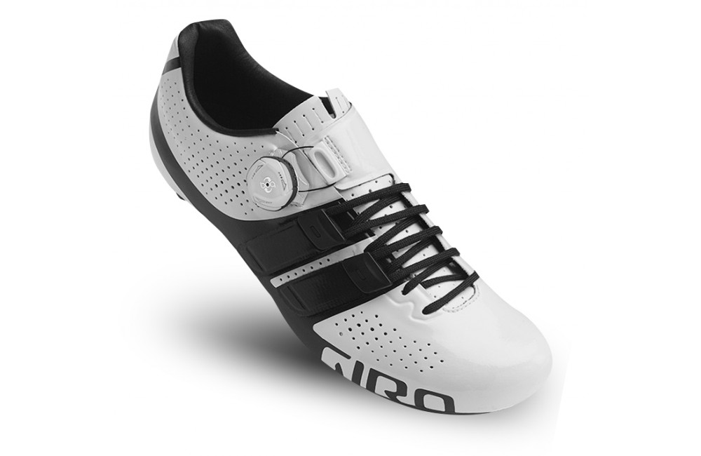 GIRO chaussures route homme Factor Techlace blanc noir 2017