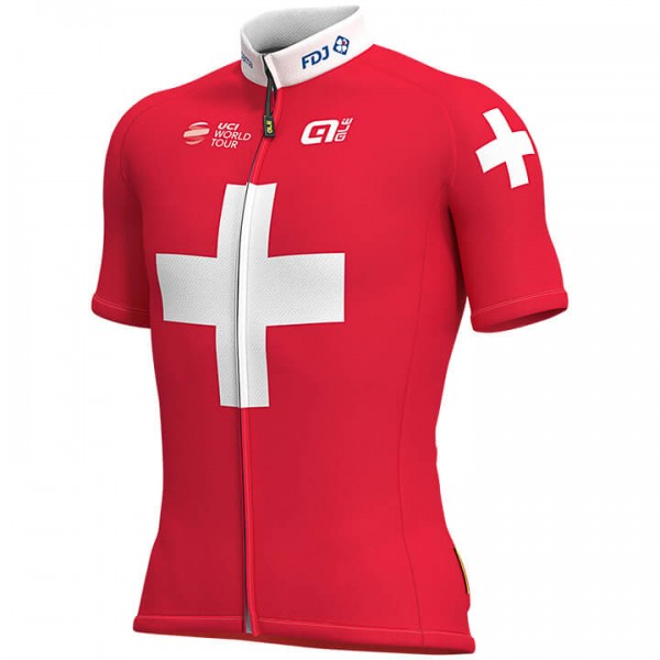 Maillot manches courtes GROUPAMA-FDJ Champion Suisse 2019