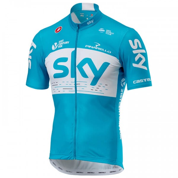 Maillot manches courtes Team Sky Fan Training 2018