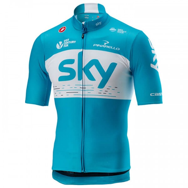 Maillot manches courtes Team Sky Training 2018