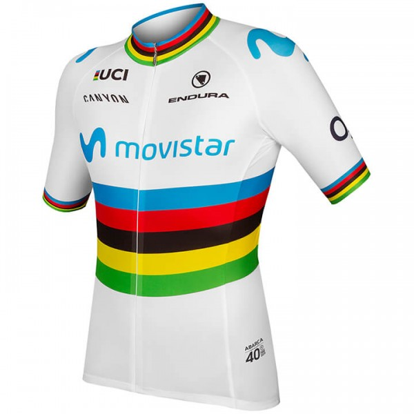 Maillot manches courtes MOVISTAR TEAM Champion du monde 2019
