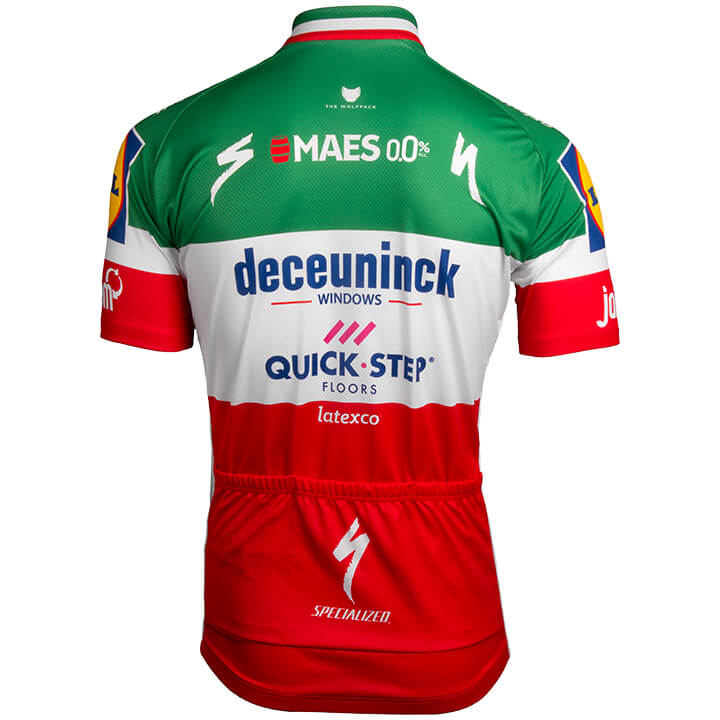 Maillot manches courtes DECEUNINCK-QUICK STEP Champion italien 2019