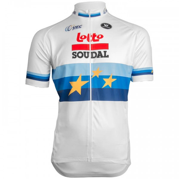 Maillot manches courtes LOTTO SOUDAL Champion d'Europe 2019