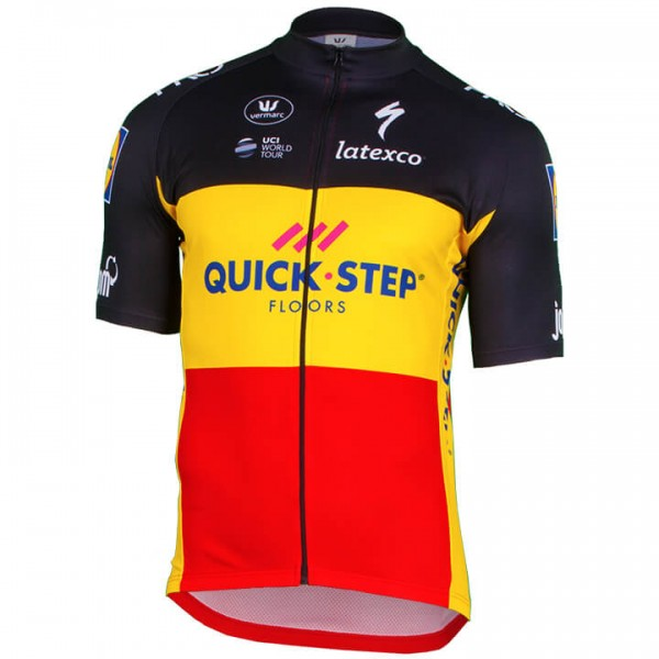 Maillot manches courtes QUICK- STEP FLOORS Champion belge 2018