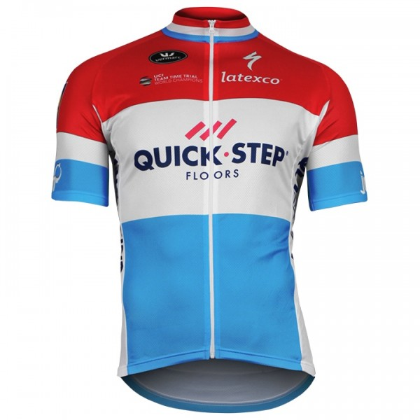 Maillot manches courtes QUICK-STEP FLOORS Champion luxembourgeois 2018